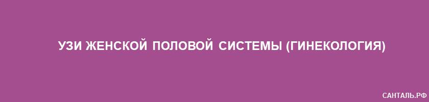 УЗИ женской половой системы в г.Кызыл (Республика Тыва)